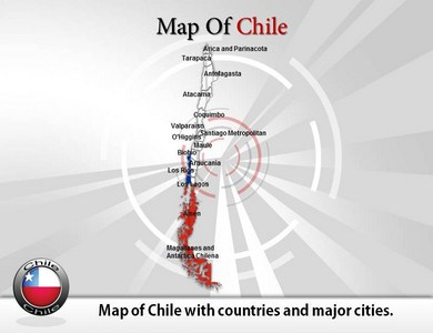 Map of Chile  PowerPoint Templates