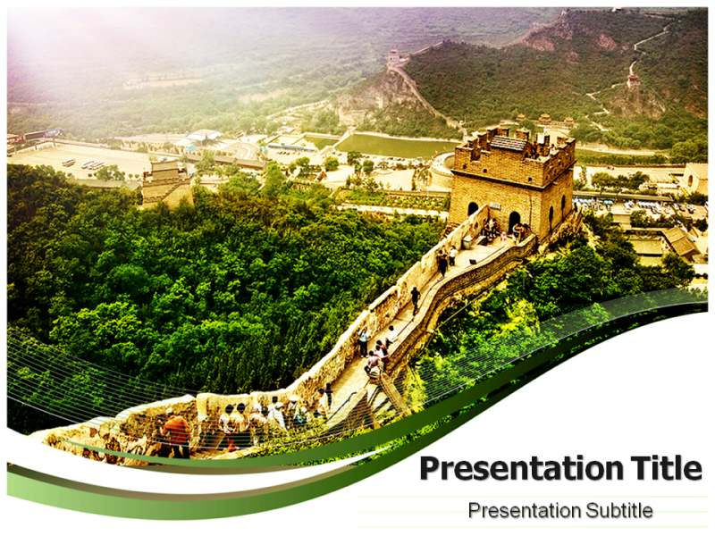 The Great Wall Of China Powerpoint Templates Powerpoint