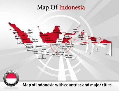 Map of Indonesia  PowerPoint Templates