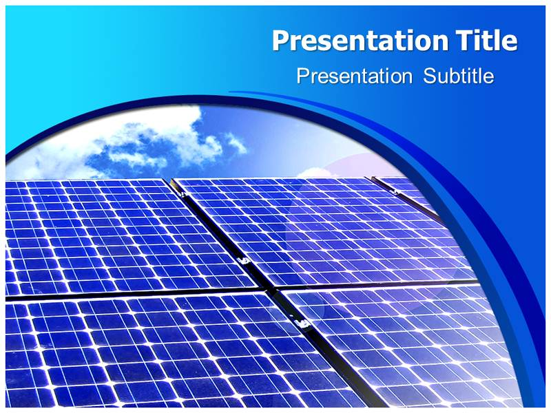 Solar Cells Powerpoint Templates Powerpoint Presentation On Solar