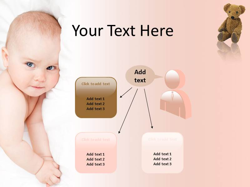 baby care powerpoint template, powerpoint slides, powerpoint, Modern powerpoint