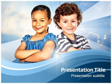 Child Diversity Powerpoint Templates
