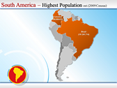 Map of South America  powerpoint download