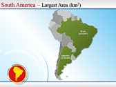 Map of South America  power Point templates