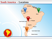 Map of South America  power Point Backgrounds