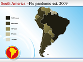 Map of South America  themes for power point