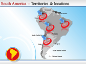 Map of South America  design for power point