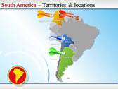 Map of South America  power point download