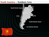 Map of South America  power point background templates