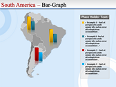Map of South America  power point background graphics