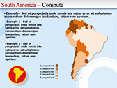 Map of South America  powerPoint themes