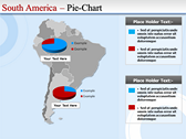 Map of South America  power Point theme