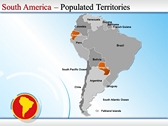 Map of South America  powerpoint theme download