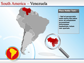 Map of South America  powerpoint theme professional