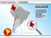 Map of South America  ppt backgrounds