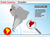 Map of South America  powerpoint themes download