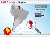 Map of South America  ppt themes