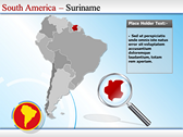 Map of South America  ppt themes template