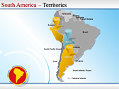 Map of South America  powerpoint templates designs