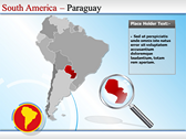 Map of South America  download PowerPoint Slides