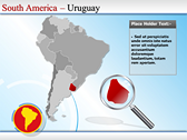 Map of South America  power point on theme
