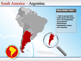 Map of South America  power point design templates