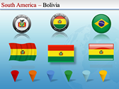 Map of South America  backgrounds for power point