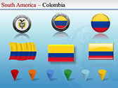 Map of South America  theme for powerpoint