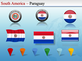 Map of South America  powerpoint template download