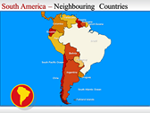 Map of South America  powerPoint background
