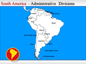 Map of South America  powerpoint backgrounds download