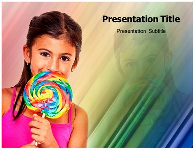 Girl With Candy Powerpoint Templates