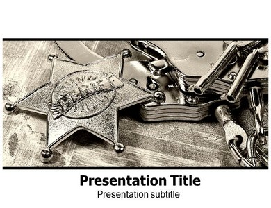 Law Enforcement Prohibition Powerpoint Templates