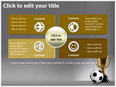 Football Champion power point background templates