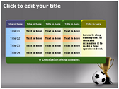 Football Champion ppt themes