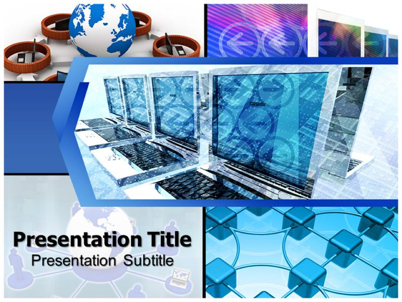 Computer Network Engineering Powerpoint Templates