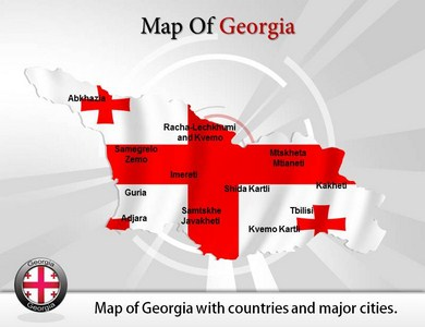 Map of Georgia  PowerPoint Templates