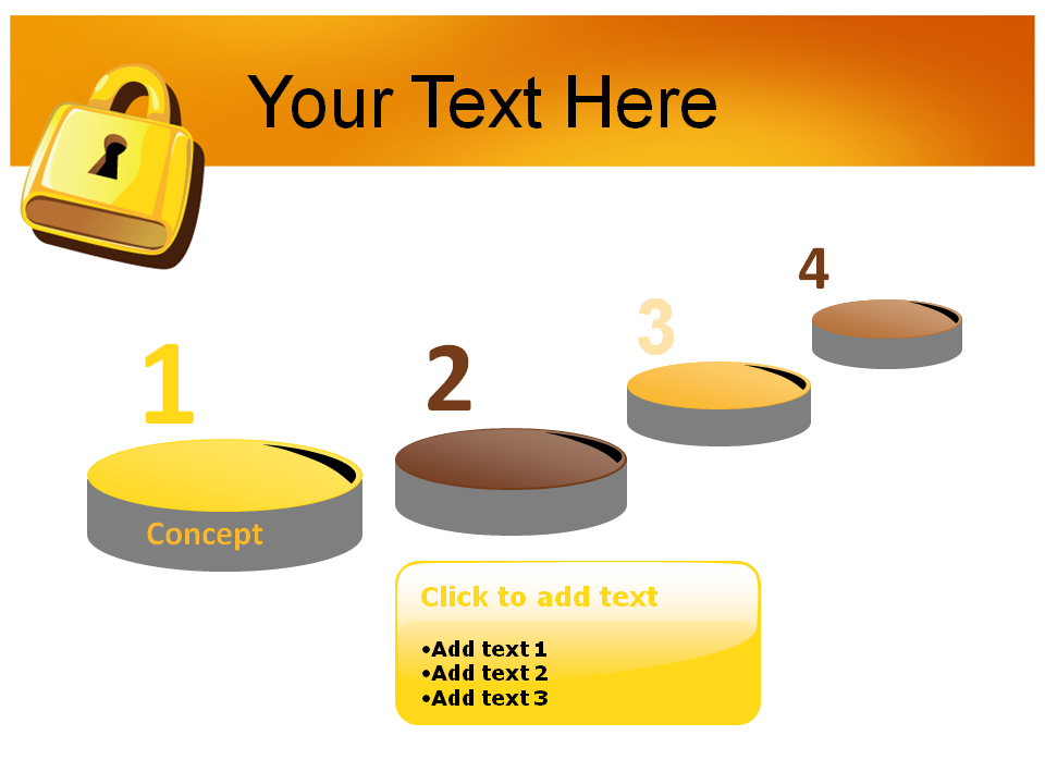 Lock 1 Powerpoint Templates