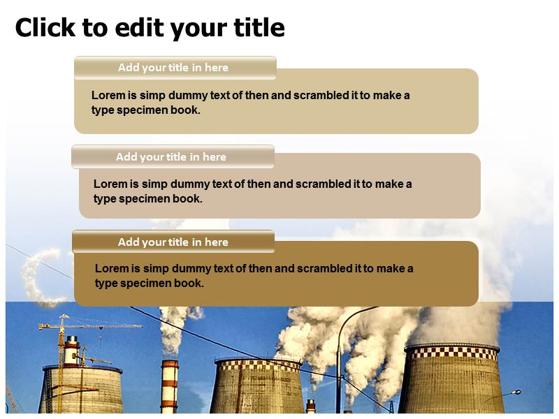 Pollution Effect PowerPoint Template, PPT Slide on Effect of
