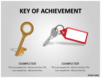Key of Achievement Powerpoint Templates