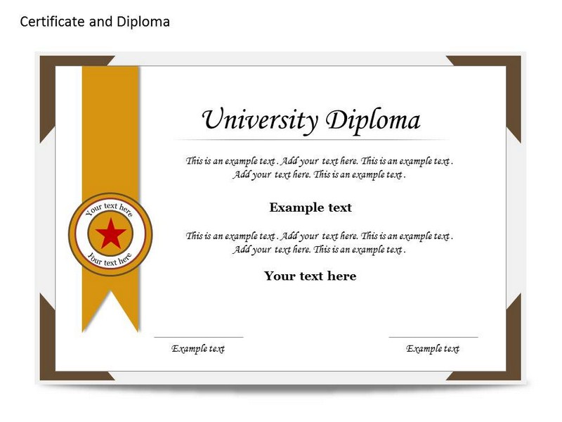 Certificat and Diploma Chart Powerpoint Templates
