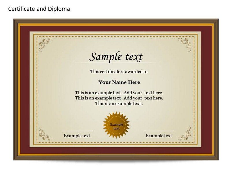 PowerPoint Certificate Template to Download