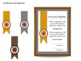 Certificat and Diploma Chart ppt templates