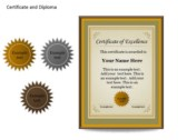 Certificat and Diploma Chart slides for powerpoint