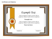 Certificat and Diploma Chart power Point templates