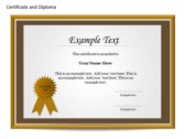 Certificat and Diploma Chart background PowerPoint Templates