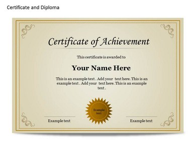 certificate & diploma chart template for powerpoint | certificate, Modern powerpoint