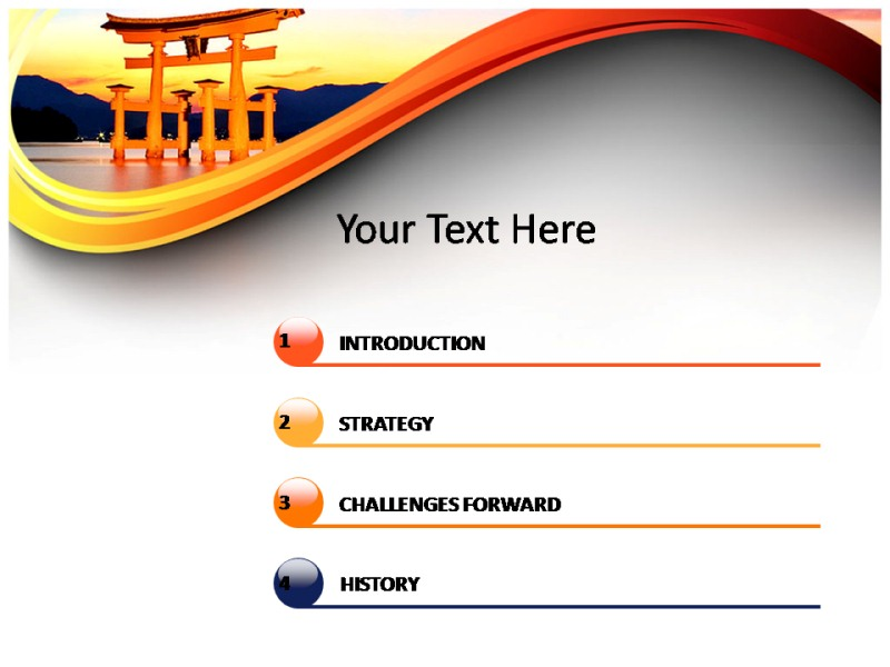 Japanese Theme Powerpoint Template Free Download