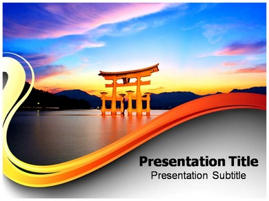 torii gate (ppt) powerpoint templates | powerpoint template on, Modern powerpoint