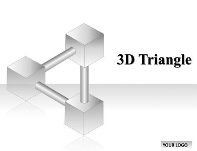 3D Triangle Powerpoint Templates